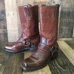 Frye Buckle Harness Motorcycle Boots Womens 7.5 m